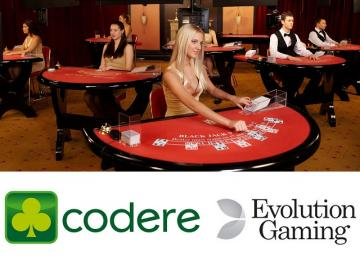 Codere acordó con Evolution Gaming por su Live Casino