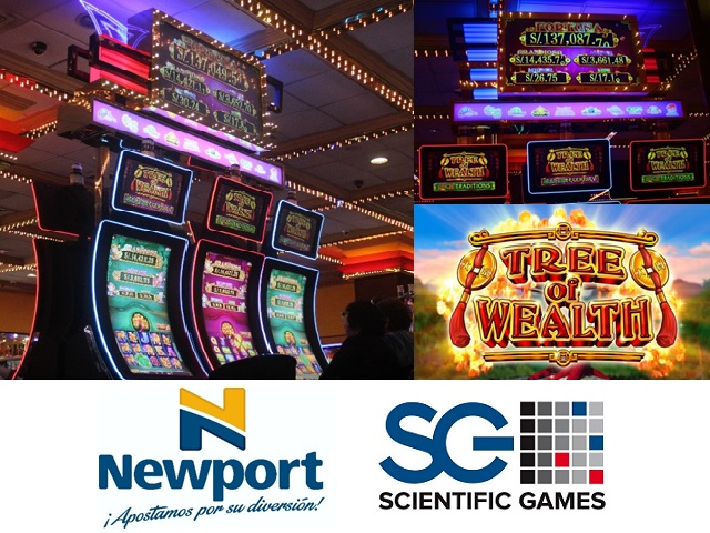 Perú: Newport lanza progresivo Tree of Wealth, de Scientific Games